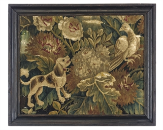 A CHARLES I TAPESTRY FRAGMENT