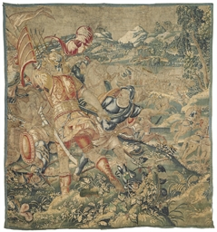 A FLEMISH TAPESTRY FRAGMENT
