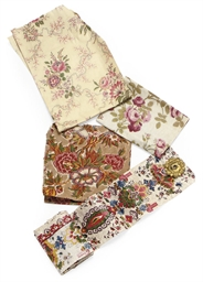 A COLLECTION OF CHINTZ FRAGMEN