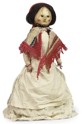 A REGENCY TURNED WOOD DOLL