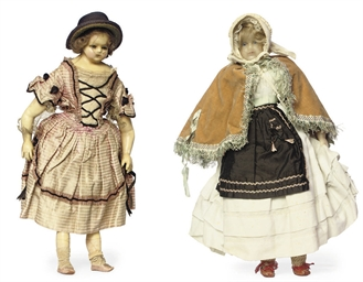 A WAX-OVER-PAPIER-MACHE DOLL I