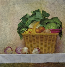 Still life with vegetables and