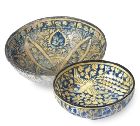 A NISHAPUR POTTERY BOWL AND A