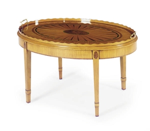 AN ENGLISH SATINWOOD, ROSEWOOD