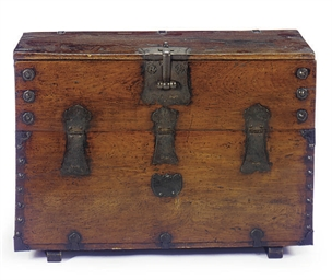 A KOREAN IRON-MOUNTED CHEST,