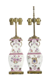 A PAIR OF GILT-METAL MOUNTED P