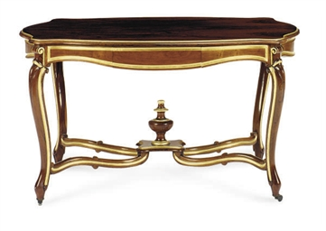 A ROSEWOOD AND PARCEL-GILT SER