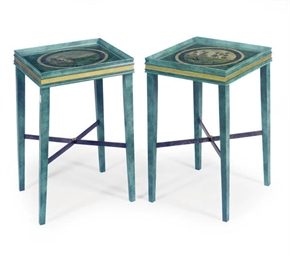 A PAIR OF PAINT-DECORATED FAUX