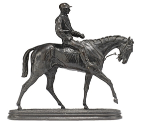 A PATINATED BRONZE MODEL OF TH