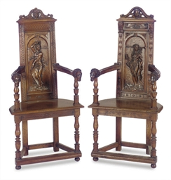 A MATCHED PAIR OF FRENCH WALNU