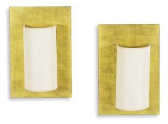 A SET OF FOUR GILTWOOD WALL-LI