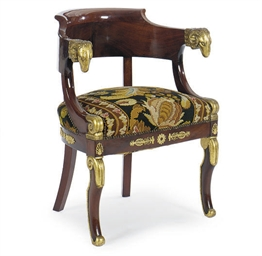 AN EMPIRE ORMOLU-MOUNTED AND P
