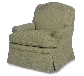 A PAISLEY UPHOLSTERED CLUB CHA