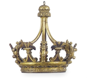 AN ITALIAN GILTWOOD AND DECORA