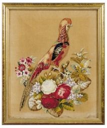 A VICTORIAN CHENILLE AND BEADE