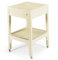 A CLOTH SIDE TABLE,