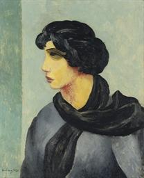 Portrait à l'écharpe noire