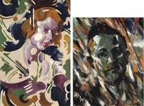 Portraitstudie, Lo; Bildnis Professor Wilhelm Paulsen