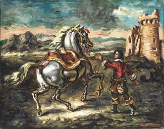 Cavallo con giovane scudiere
