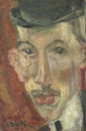 Visage d'homme au chapeau