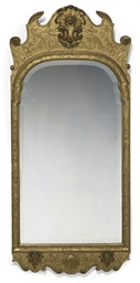 A GEORGE I GILT-GESSO MIRROR