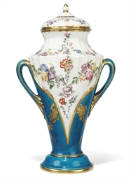 A VINCENNES TWO-HANDLED VASE A