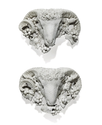 A PAIR OF GEORGE III CARVED AJ