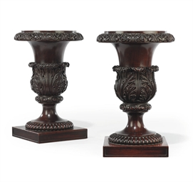 A PAIR OF GEORGE IV MAHOGANY S