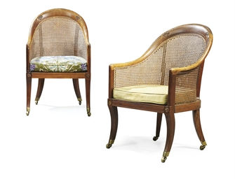 A PAIR OF REGENCY ROSEWOOD TUB