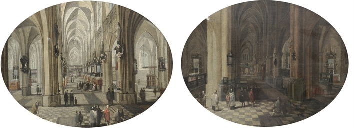 The interior of Antwerp cathed