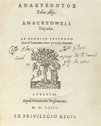 ANACREON (?572-?488 BC), and o