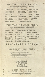 Poetae Graeci principes heroic