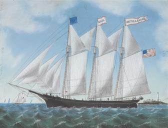 The trading schooner the Hatti
