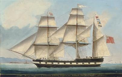 Barque Higginson off Leghorn