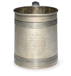 A silver presentation cup
