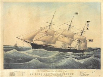 Clipper ship Dreadnought off T