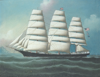 American three masted clippers