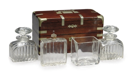 A captain's decanter set