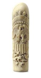 An ivory cane handle**