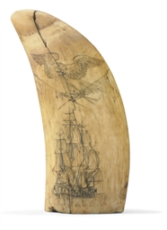 A large scrimshaw whale's toot