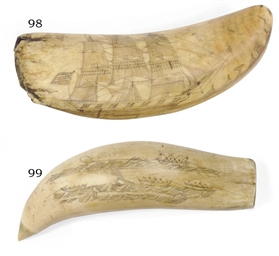 A double sided whale's tooth w