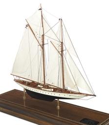 A model of the racing schooner