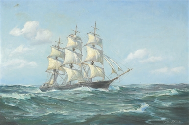 The clipper ship Sovereign of