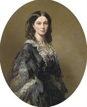 Portrait of Princess Bariatinsky, three-quarter length