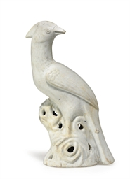 A WHITE-GLAZED PHEASANT FROM T