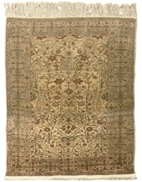 A two Turkish silk rugs & Bokh