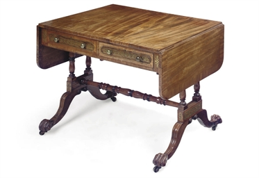 A REGENCY ROSEWOOD AND BRASS-I