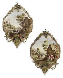 A PAIR OF FRENCH EARTHENWARE A