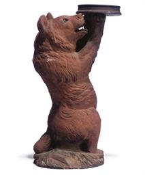 A VICTORIAN TERRACOTTA BEAR ST