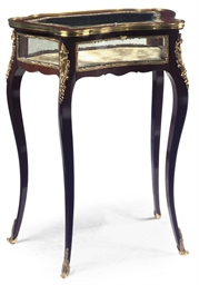 A FRENCH GILT-METAL MOUNTED MA